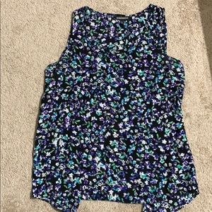 Express open back Floral tank top